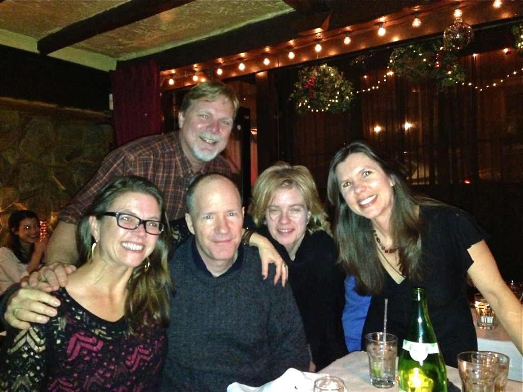 Amy Wallen, Rick Moody, Melora Wolff, Susan Henderson, and in back, Eber Lambert.