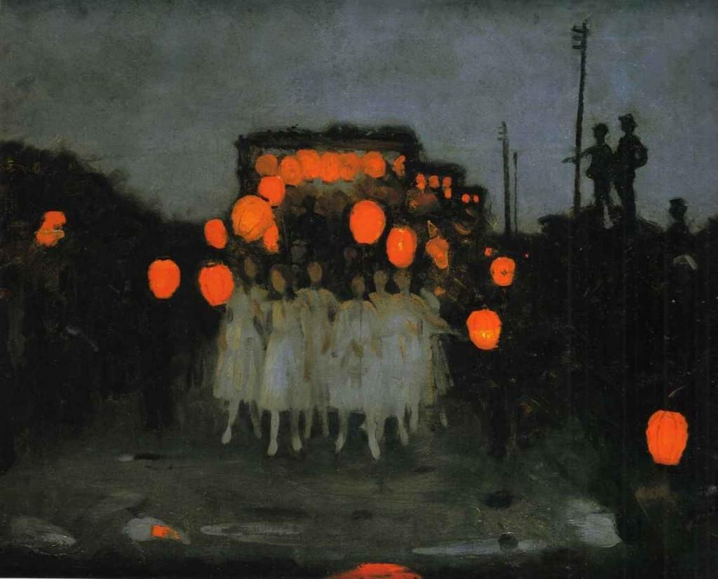 Lantern Parade -- Thomas Cooper Gotch, ca. 1918
